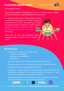 Informacio extraescolar online 2